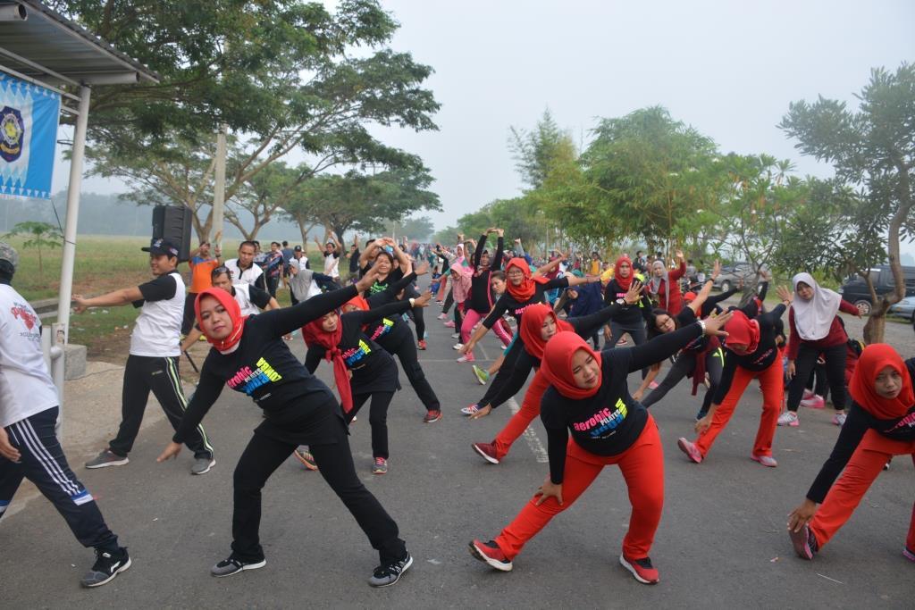 Senam Sehat bersama KPU Pringsewu